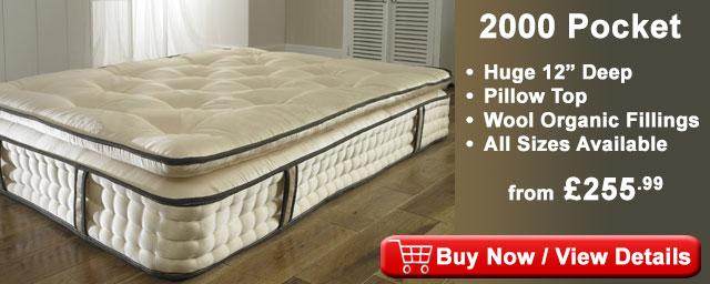 mattress 2000 pocket springs. 2000 pocket sprung pillow top organic mattress mat2l springs i