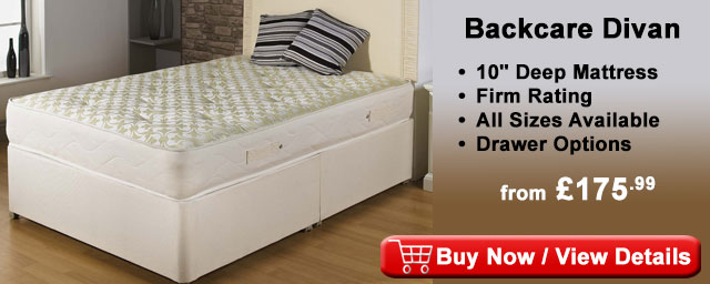 Backcare orthopaedic firm divan bed DIV2W