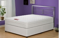 Special Double Size 2 Drawer Memory Foam Divan + Headboard