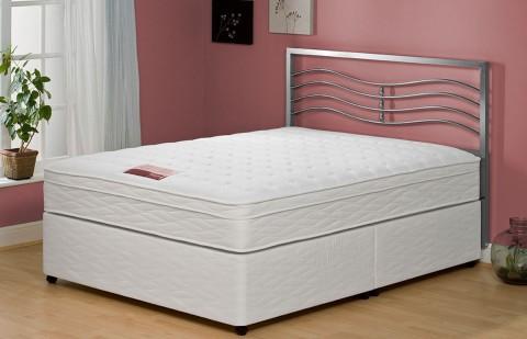 Special Double Memory Foam Pillow Top Divan + Headboard