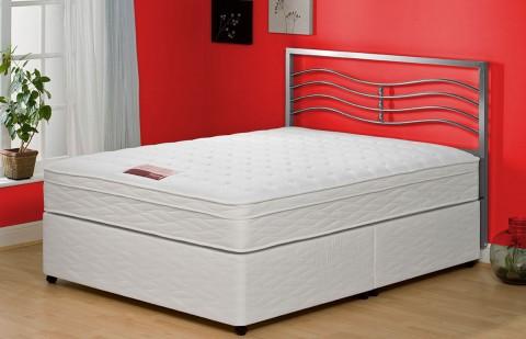 Special Small Double Pillow Top Memory Foam Divan + Headboard