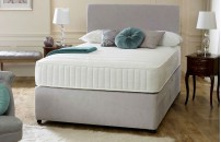 Double Fabric Divan 1AC Memory Foam + Headboard Free Delivery