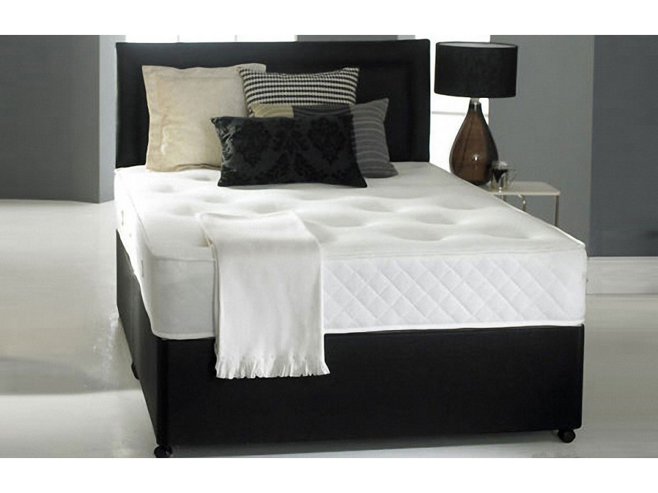 3000 pocket sprung double or king size divan memory foam for Double divan with headboard