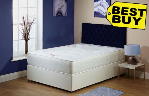 Exclusive Double or Small Double Divan Bed 1A 25cm Orthopaedic Mattress Free Delivery