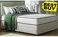 *BEST PRICE* Faux Suede Divan Bed and Memory Foam Mattress Set