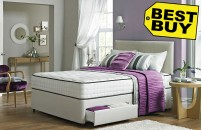 Double Divan 2 Drawer Divan Bed Memory Foam Mattress and Headboard