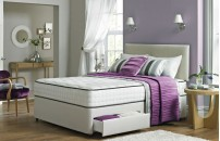 Double Divan 2000 Pocket Memory Foam 4 Drawer Divan Bed and Headboard