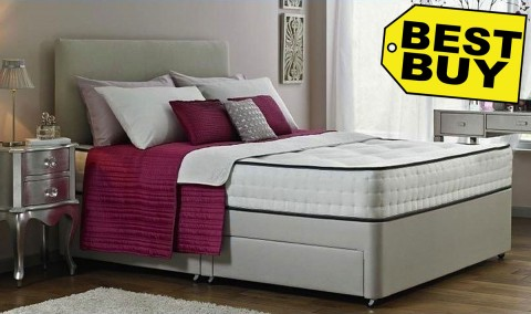 Special King Size Divan Bed and Memory Foam Mattress