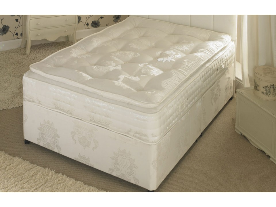 King Size 1500 Pocket Divan And Pillow Top Memory Foam Mattress Limited Stock Offer