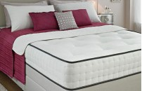 Comfort Faux Suede Divan Bed and Memory Foam Mattress Set