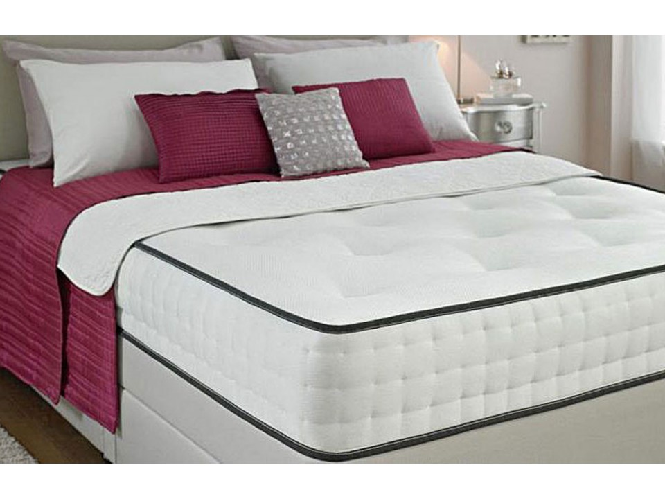 Comfort faux suede divan bed and memory foam mattress set for Divan bed with memory foam mattress