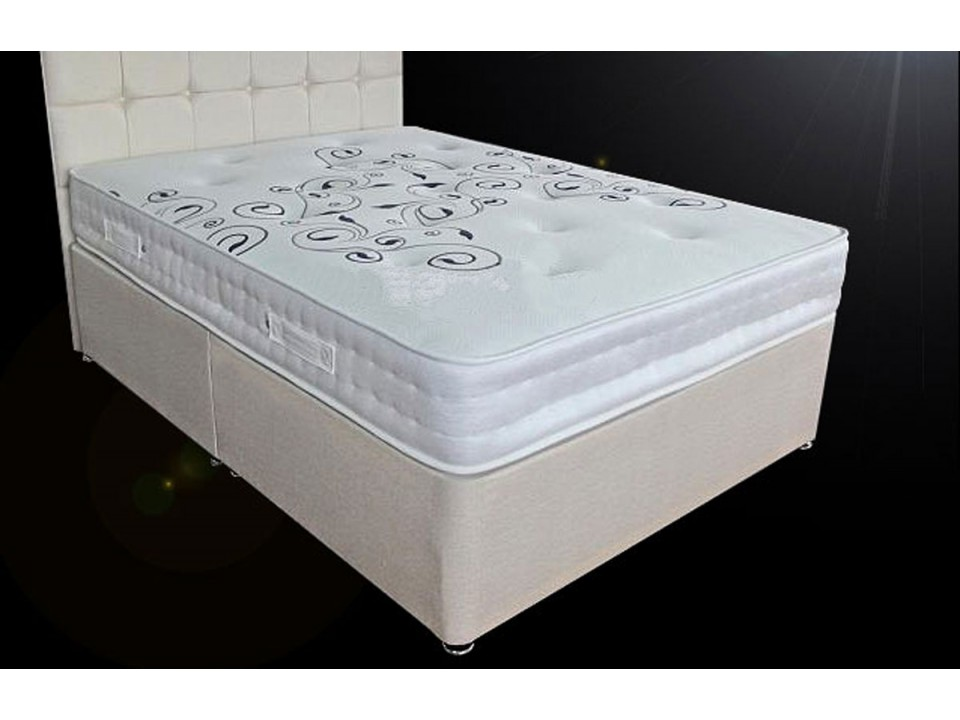 2000 pocket sprung divan bed and memory foam mattress set for Divan bed with memory foam mattress