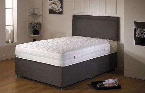 Offer Air Flow Divan Bed And Memory Foam Mattress Set With
