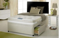 Promo Air-Flow Divan Bed and Memory Foam Mattress Set