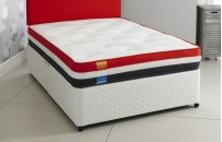 *OFFER* Dual Season Air-Flow Divan Bed and Memory Foam Mattress Set