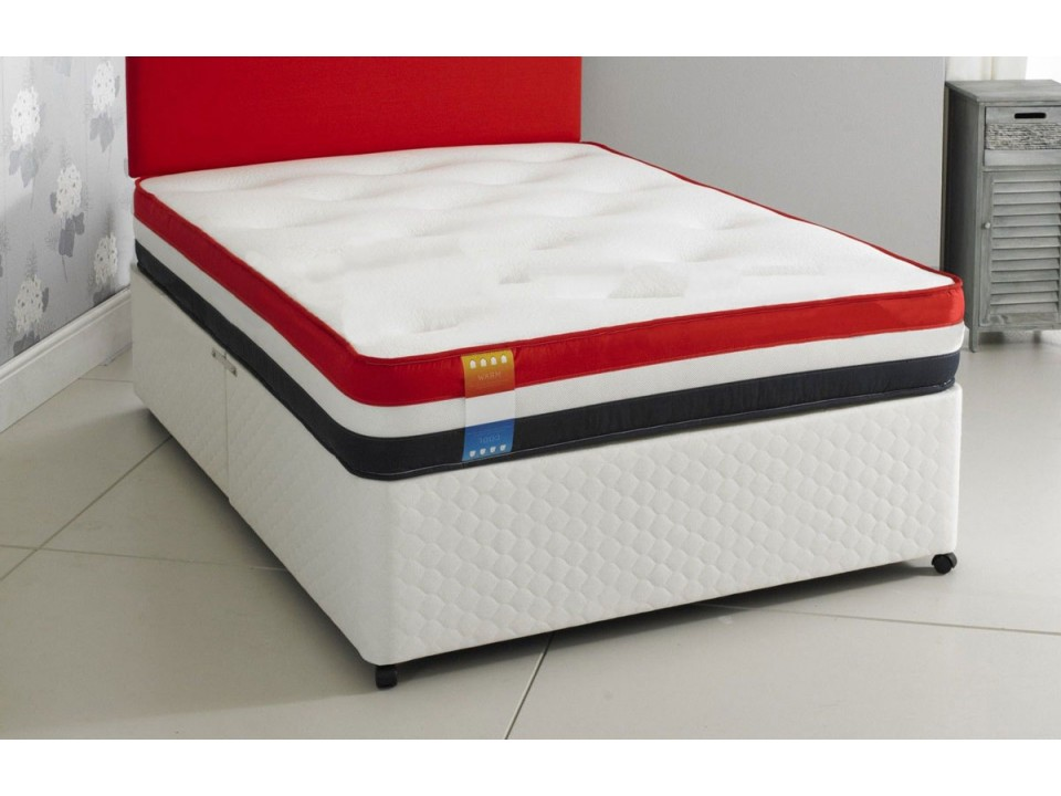 Offer Dual Season Air Flow Divan Bed And Memory Foam Mattress Set