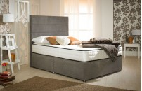 Style Divan Bed Ocean Brown 1500 Pocket Spring Memory Foam Mattress