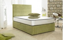Style Divan Bed Lime 1500 Pocket Spring Memory Foam Mattress