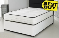 Double or Small Double 2000 Pocket Divan Bed 2Q + Memory Foam Mattress - Free Delivery