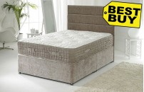 Connoisseur Collection Luxury Divan Bed With 3000 Pocket Spring Organic Mattress