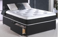 Connoisseur Collection Luxury Divan Bed With 3000 Pocket Spring Pillow Top Organic and Memory Foam Mattress