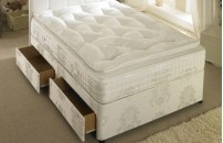 Pocket Sprung 1500 Divan Bed and Memory Foam Pillow Top Mattress Set