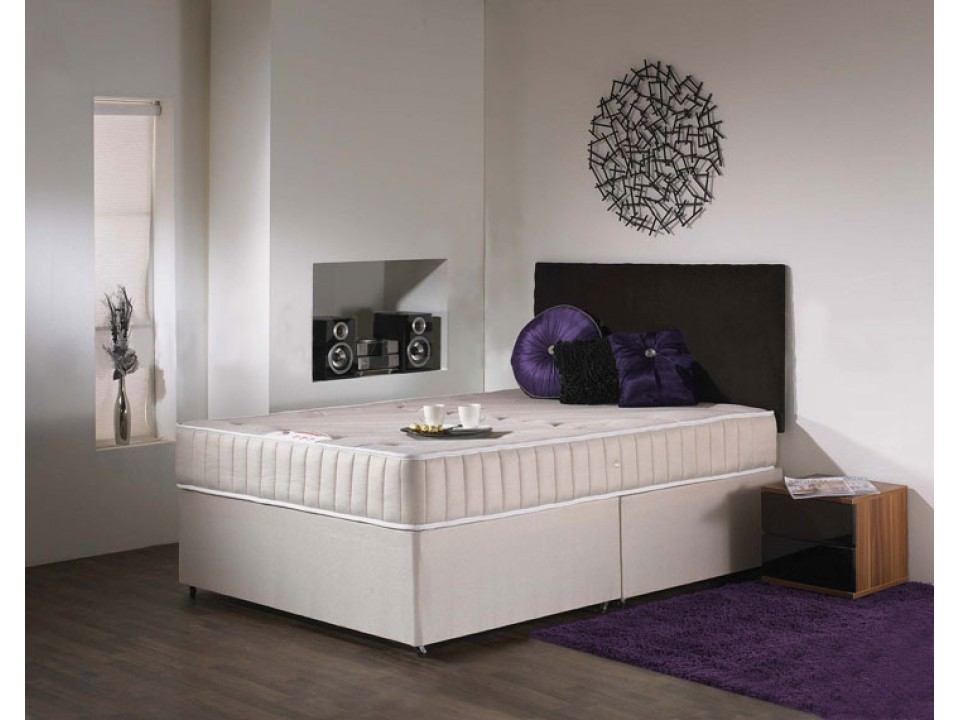 Deluxe memory foam divan and mattress set fast delivery for Beds express delivery