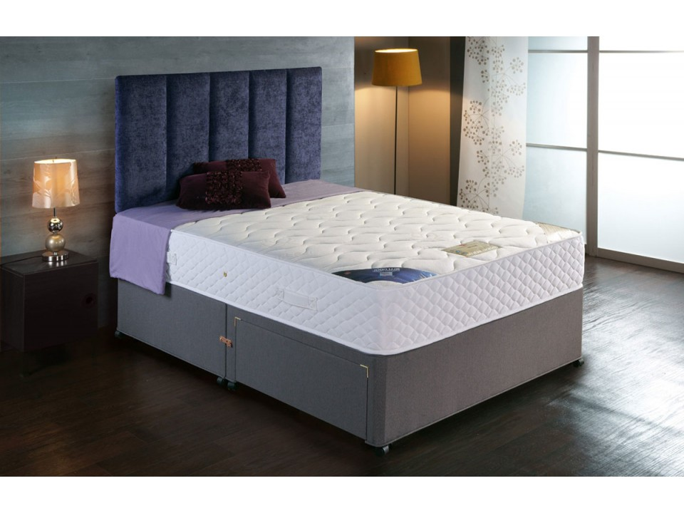 Premier 1000 pocket divan bed and encapsulated cool for Divan bed with memory foam mattress