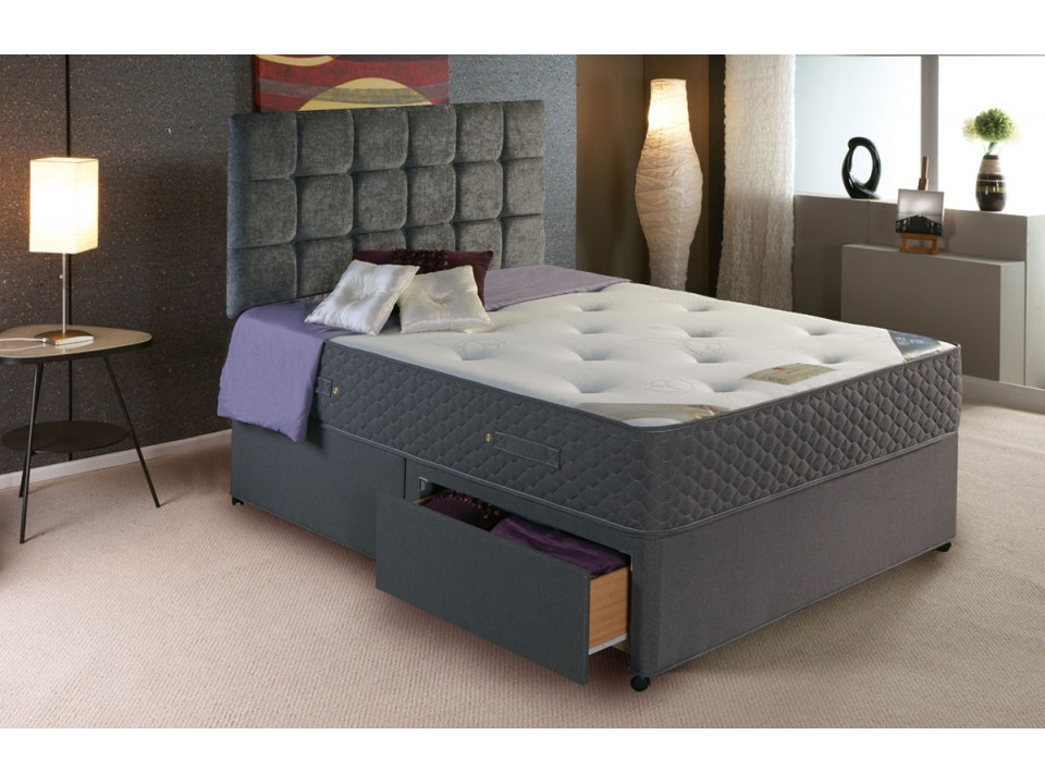 Premier 1500 pocket divan bed and encapsulated cool for Divan bed with memory foam mattress