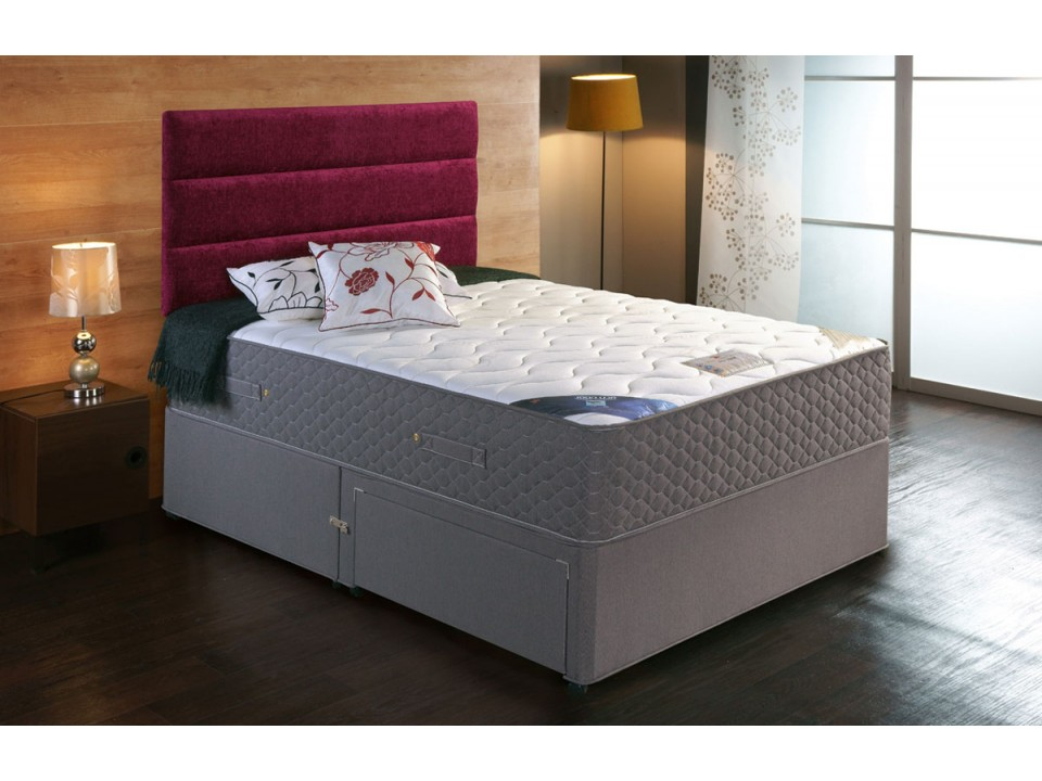 Premier 2000 Pocket Divan Bed And Cool Memory Foam Mattress Set