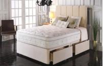 *PREMIER* 2000 Pocket Divan Bed and Pillow Top Memory Fibre Mattress Set
