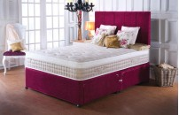 *PREMIER* 2000 Pocket Divan Bed and Pillow Top Talalay Latex Mattress Set