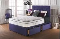 *PREMIER* 2000 Pocket Pillow Top Divan Bed and COOL Memory Foam Mattress Set