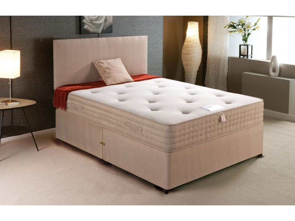 Premier orthopaedic sprung divan bed and talalay latex for Divan and mattress set