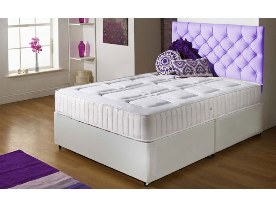 Special offer double size memory foam divan and mattress set for Double divan bed set