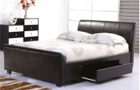Alvito Drawer Faux Leather Bed