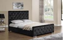 *NEW* Berkeley Crushed Velvet Fabric Bed
