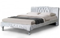 *NEW* Kingsley Crushed Velvet or Faux Leather Designer Bed