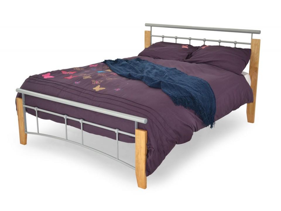 kendall wood metal bedframe. Black Bedroom Furniture Sets. Home Design Ideas