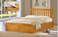 *NEW* Oxford Ottoman Storage Bed Oak or White Finish