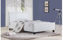 Renate Faux Leather Designer Bed