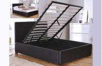 Soave Faux Leather Ottoman Bed