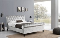 *NEW* Souvigny Crushed Velvet Sleigh Bed
