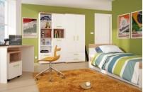 *Kids Stuff Bedroom - Light Oak and White High Gloss