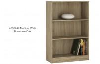 4050247 Medium Wide Bookcase Oak