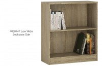 4050747 Low Wide Bookcase Oak