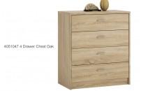 4051047 4 Drawer Chest Oak