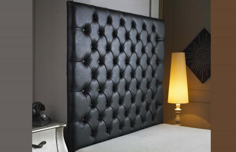Belmont Buttoned Faux Leather Wallboard