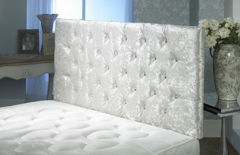 California Crushed Velvet Headboard Double Size Free Delivery