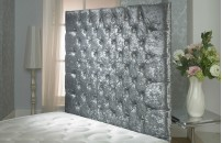 California Crushed Velvet Wallboard Small Double Free Delivery